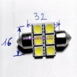 szofita 32mm 6 led smd 5050 led belső világítás led light